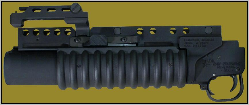 M203PI EGLM for use with Picatinny rail systems.