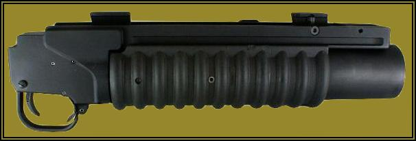 The M203PI EGLM - a M203 type 40mm grenade launcher module.