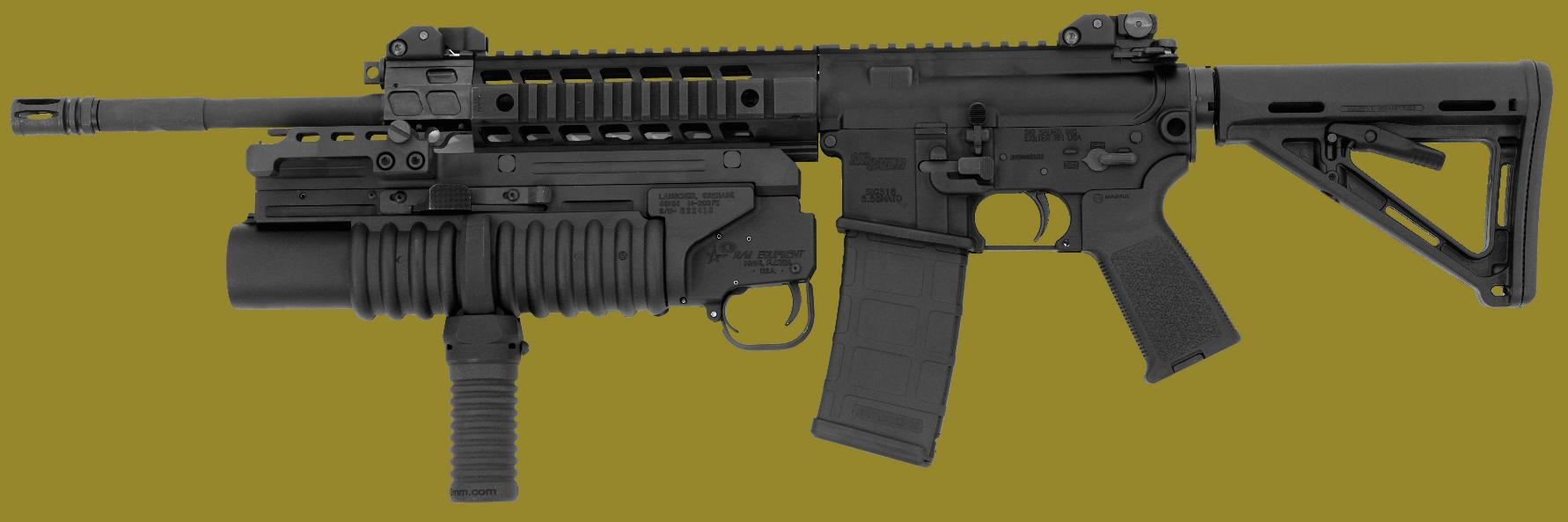 M203PI Universal EGLM Model with M203grip on the SIG516